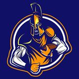 Spartan rugby logo stock illustration