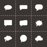 Vector speach bubbles icon set Stock Images