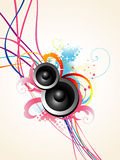 Vector speaker art. Beautiful  musical speaker design with artistic background Stock Photography