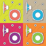 Vector speaker membran. EPS 8.0 file available royalty free illustration