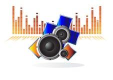 Vector speakers Royalty Free Stock Image
