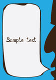 Vector speaking silhouette with speech Royalty Free Stock Photography