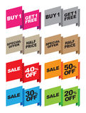 Vector special offer labels. Vector set of special offer labels and banners Stock Images