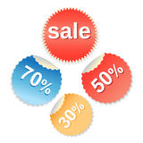 Vector special offer labels set Stock Image