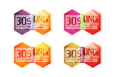 Vector special offer stickers and banners Royalty Free Stock Image