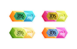 Vector special offer stickers and banners. Sale tags, labels or advertising special offer templates. Icon set Stock Photo