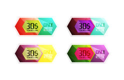 Vector special offer stickers and banners Stock Image