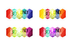 Vector special offer stickers and banners Royalty Free Stock Images