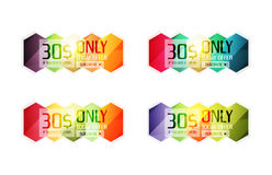Vector special offer stickers and banners Stock Photos