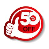 Vector special sale offer. Red tag with best choice. Discount offer price label with hand gesture. Sticker of 50 off. Illustration Vector Illustration