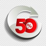 Vector special sale offer. Red tag 50 % off. Illustration Stock Images