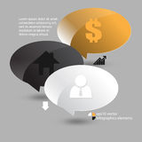 Vector speech balloon infographics background Royalty Free Stock Images