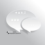 Vector speech balloon infographics elements background Royalty Free Stock Image
