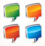 Vector speech bubble. Vector bright speech bubble -  illustration Royalty Free Stock Images