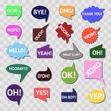Vector speech bubble colorful set Stock Photo