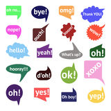 Vector speech bubble colorful set Royalty Free Stock Photo