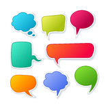 Vector speech bubble Royalty Free Stock Image