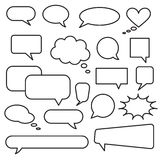 Vector speech bubble icons. Layout element for web, brochure, presentation or infographics Stock Image