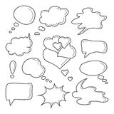 Vector speech bubble icons. Sketch. Stock Photos