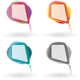 Vector Speech Bubble Set. Vector Color Speech Bubble Set Royalty Free Stock Images