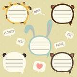 Vector speech bubble set for kids Royalty Free Stock Photos