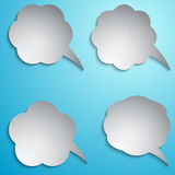 Vector speech bubble set Royalty Free Stock Image