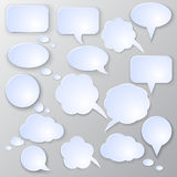 Vector speech bubble set Royalty Free Stock Photos