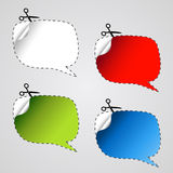 vector speech bubble stickers Stock Photography
