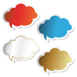 Vector speech bubbles Royalty Free Stock Photography