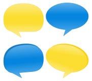 Vector Speech Bubbles. Blue and Yellow Speech Bubbles Vector Illustration