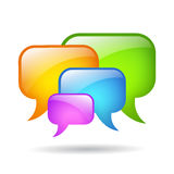 Vector speech bubbles Stock Image