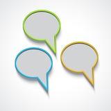 Vector speech bubbles Stock Photo