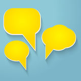 Vector speech bubbles Stock Photo