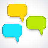 Vector speech bubbles Stock Photography