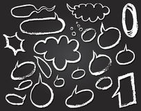Vector Speech Bubbles Doodles on Notepaper Stock Photo
