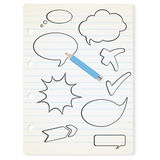 Vector speech bubbles on the paper Royalty Free Stock Photography
