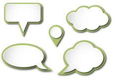 Vector speech bubbles Royalty Free Stock Image