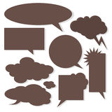 Vector speech bubbles with shadow like clouds on Stock Photo