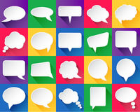 20 vector speech bubbles. With shadows Stock Illustration