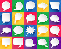 20 vector speech bubbles. With shadows Vector Illustration