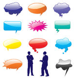 Vector speech bubbles shapes. Royalty Free Stock Image