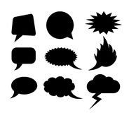 Vector speech bubbles Royalty Free Stock Photos