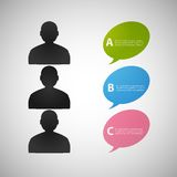 Vector speech dialog people eps Royalty Free Stock Photography