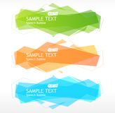 Vector speech templates for text Royalty Free Stock Image