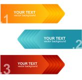 Vector speech templates for text orange, blue Stock Image