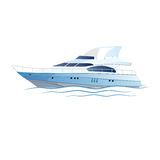 Vector speed luxury yacht Royalty Free Stock Photo