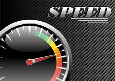 Vector speed poster Royalty Free Stock Image