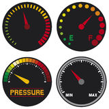 Vector speedometer Stock Photos