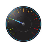 Vector speedometer. Black speedometer on a white background. EPS10 stock illustration