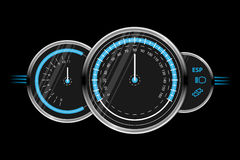 Vector speedometer design Royalty Free Stock Images